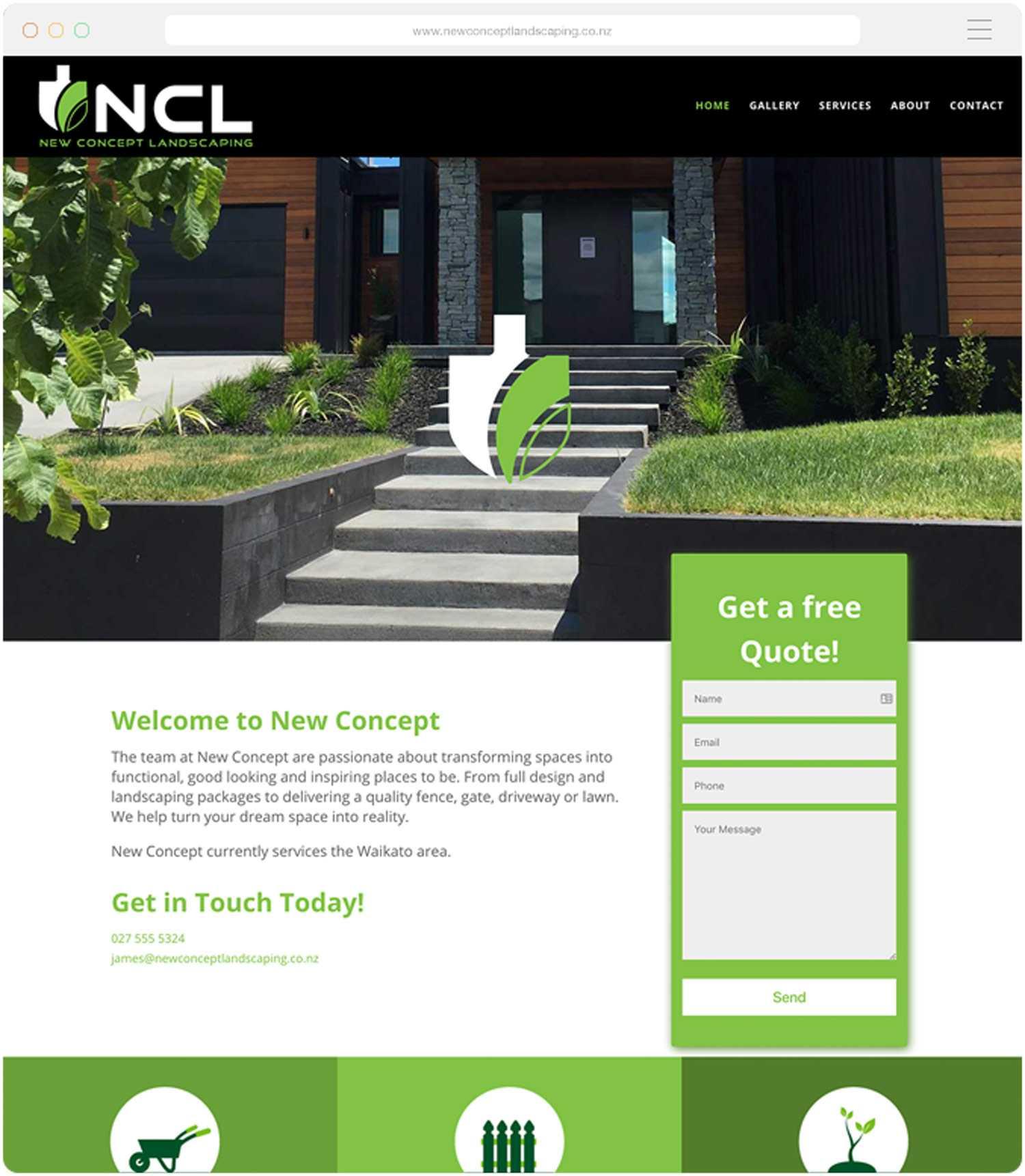 Landscaping Websitee Build for NCL