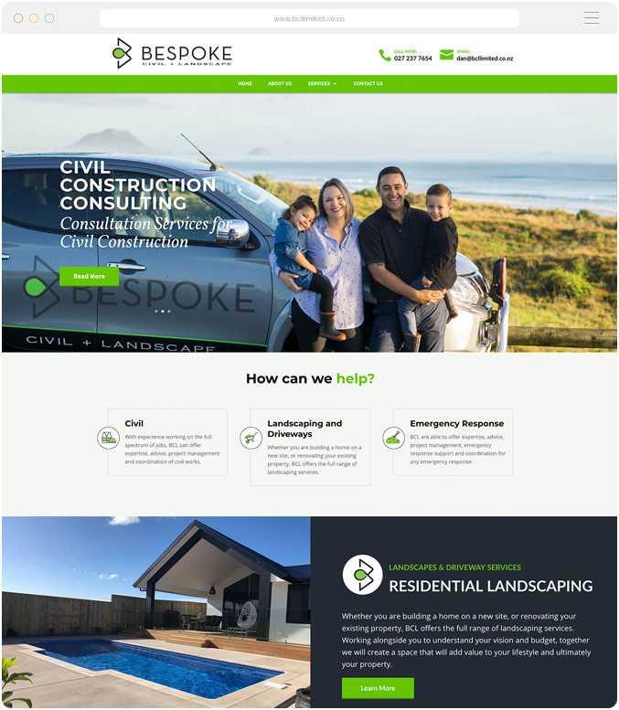 Website design and build for Bespoke