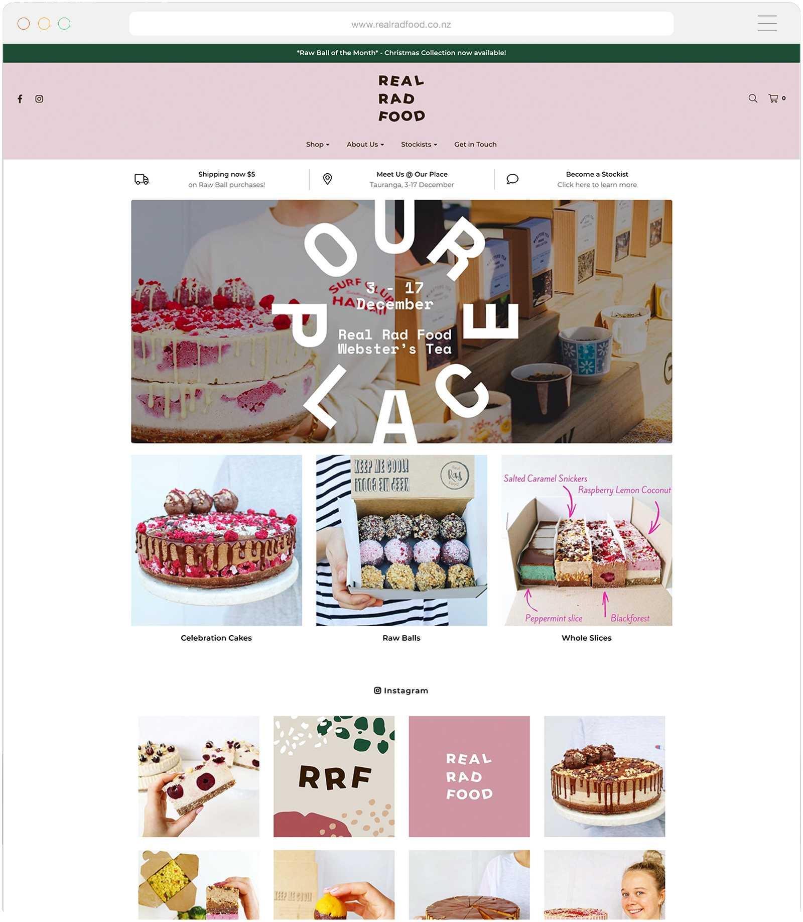 Shopify Websites Tauranga - Real Rad Food