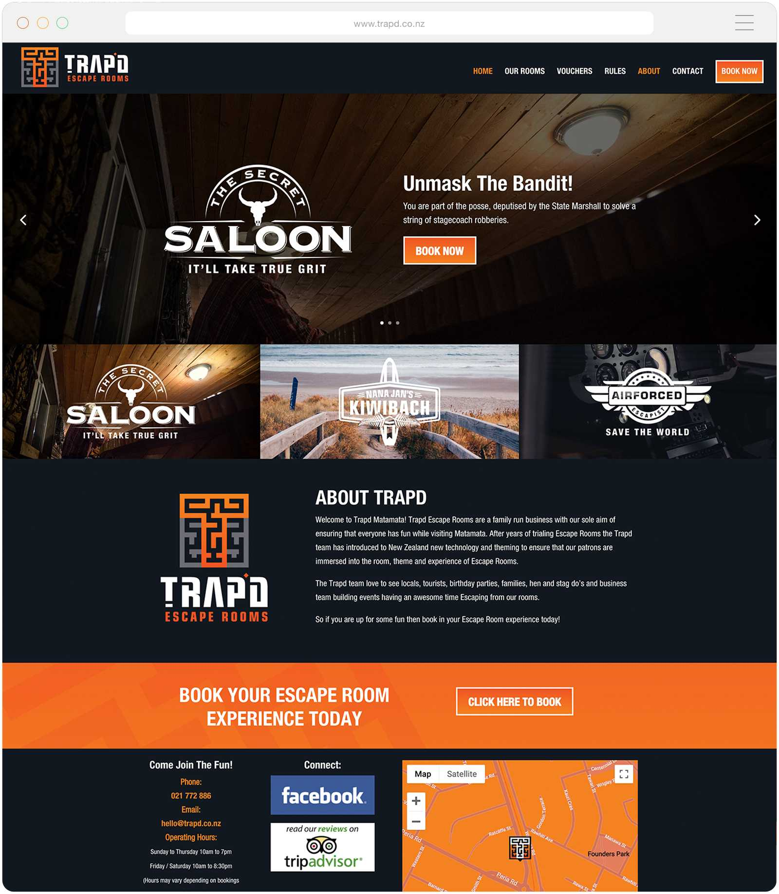 Website design for tourism businesses NZ